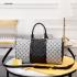 Tas Louis Vuitton Keep 45 Silver-Black Monogram Travel Bag M41416 Platinum Kode LV1559