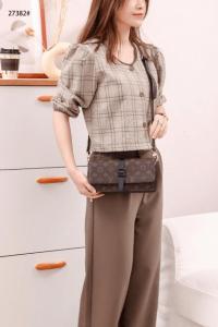 Tas Louis Vuitton Small Sling Bag In Monogram 27382 Platinum Kode LV1558