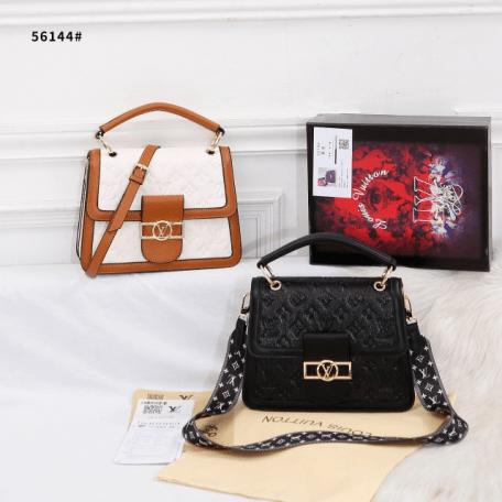 Tas Louis Vuitton Terbaru 2021, Dauphine Top Handle Shoulder Bag 56144 Semi Premium Kode LV1564 3