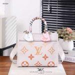 Tas Louis Vuitton Tote Zipper PM Handbag  Syal R67050 Semi Premium Kode LV155