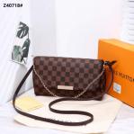 Tas Lv SELEMPANG BATAM, Louis Vuitton Favorite Chain And Leather Strap Crossbody Bag Z40718 Platinum Kode LV1279