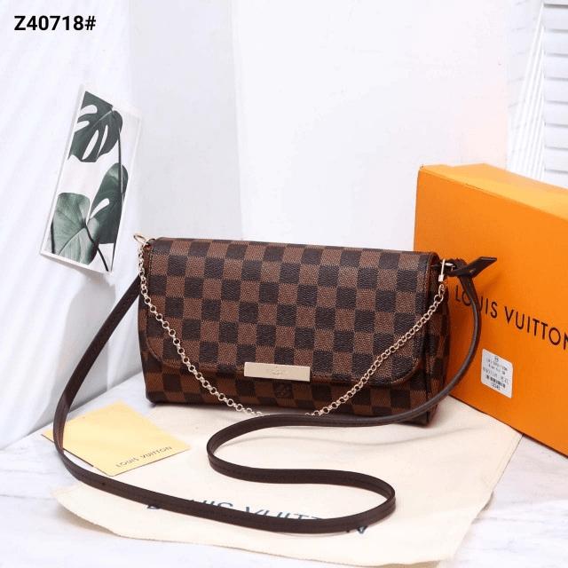 Tas Lv SELEMPANG BATAM, Louis Vuitton Favorite Chain And Leather Strap Crossbody Bag Z40718 Platinum Kode LV1279 4