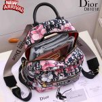 Tas batam branded, tas ransel wanita import,Christian Dior Oblique Jacquard Backpack Multi Function D8101 Semi Ori Kode CD4095