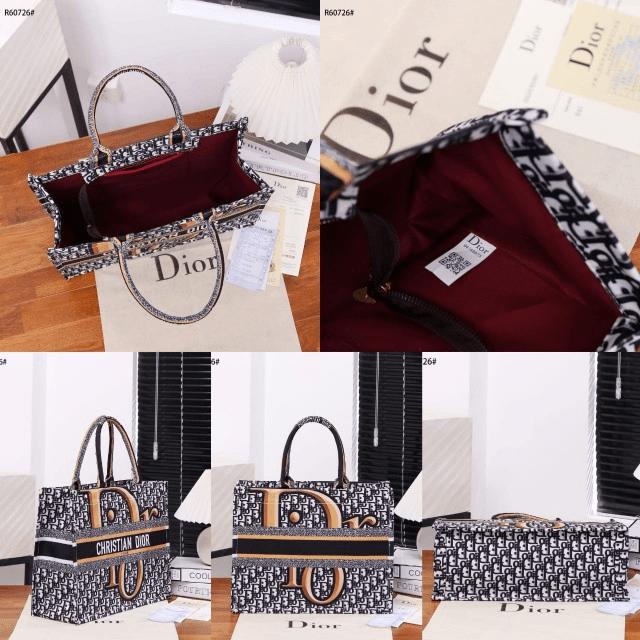 Tas branded batam,Tas wanita Terbaru,Christian Dior Book Tote Embroidery Handbag R60726 Semi Premium Kode CD4096 3