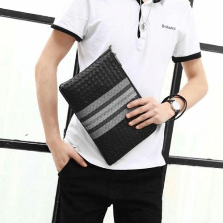 Handbag pria branded terbaik,Tas Bottega Veneta Pouch Document 550-4V High Premium AAA Kode BOT149 3