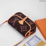 Harga tas selempang terbaru,Tas Louis Vuitton LV Delphine Crossbody With Box M45645 Platinum Kode LVT105