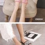 MODEL SANDAL WANITA TERBARU 2021,Sandal CD Christian Dior Dway Slide Stripes Embroidered Women's E9092 Semi Premium Kode SCD175