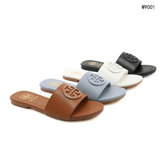 MODEL SANDAL WANITA TERBARU 2021,Sandal Tory Burch Logo Classic Leather Sandals Premium W9001 Semi Premium Kode STB270 8