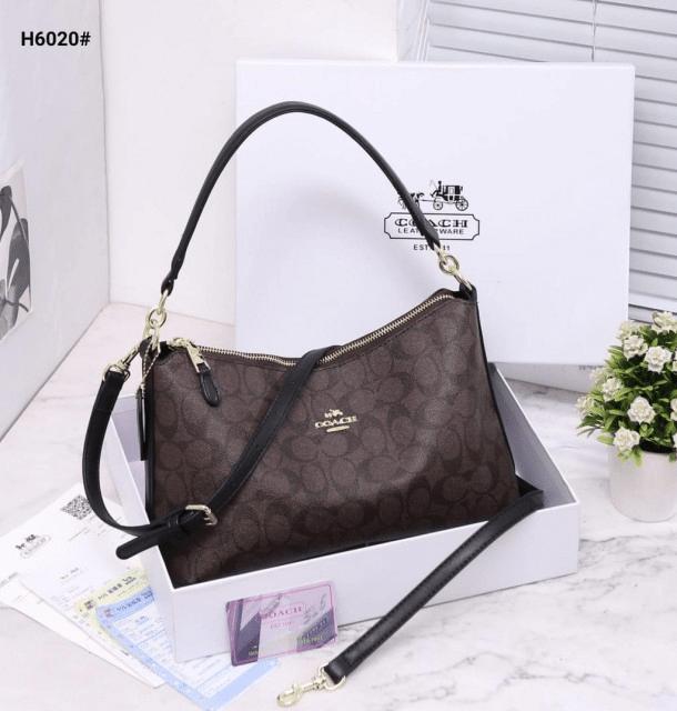 MODEL Tas Coach TERBARU dan harganya, Lewish Shoulder Bag in Signature H6020 Semi Premium Kode COA616 7