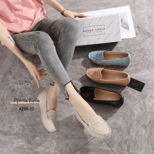 SEPATU WEDGES WANITA IMPORT,Sepatu Monna Vania Wedges A299-22 Original Brand Kode MVN101 5