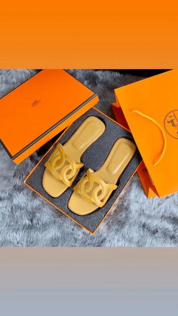 Sandal BRANDED WANITA, SANDAL Hermes TERBARU 2021, Omaha Sandals SS21 601-58 Platinum Kode SHE149 3