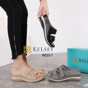 Sandal WANITA TERBARU 2021, Kelsey Cindira W115-7 Original Brand Kode SKE375