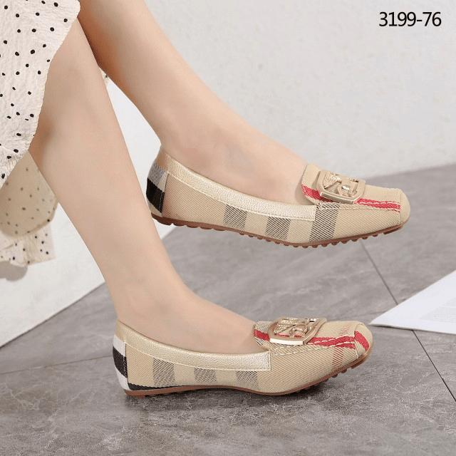 Sepatu wanita flat branded, sepatu Burberry Flatshoe 3199-76 Semi Platinum Kode SBU100 4