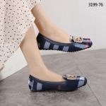 Sepatu wanita flat branded, sepatu Burberry Flatshoe 3199-76 Semi Platinum Kode SBU100