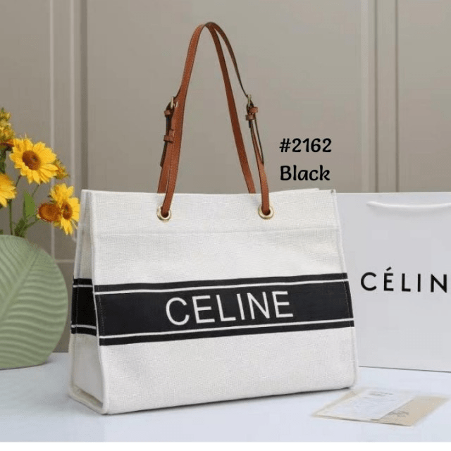 Tas BAHAN KANVAS TEBAL, TAS Celine Canvas Tote Bag Celine 2162 Semi Premium Kode CEL039 5