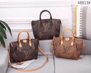 Tas Batam Import, Tas batam Branded, Tas batam terbaru, Louis Vuitton Turenne 48813 Tote Sling Bag Small Giant Monogram Semi Platinum Kode LV1572