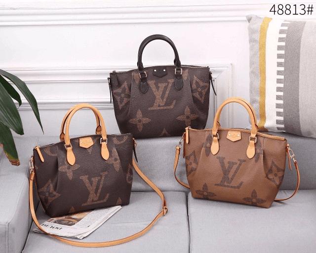 Tas Batam Import, Tas batam Branded, Tas batam terbaru, Louis Vuitton Turenne 48813 Tote Sling Bag Small Giant Monogram Semi Platinum Kode LV1572 3