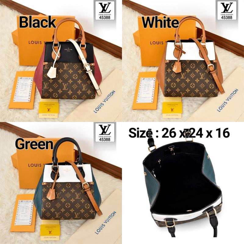 Tas Kw batam murah, tas kw murah, tas batam branded, Louis Vuitton Two-Tone Mix Monogram BagSeries 45388 Platinum Kode LV1570 23