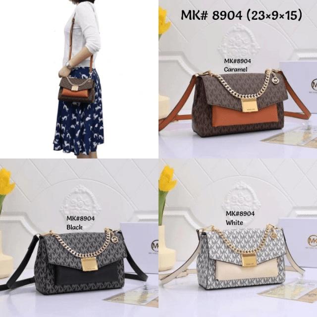 Tas MK selempang, tas mk terbaru,tas Michael Kors Lita Medium Two Tone Logo Crossbody Bag 8904 Semi Premium Kode MK153 4