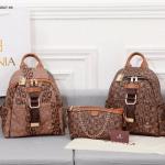 Tas RANSEL WANITA BRANDED BATAM, TAS Bonia Classic Backpack GHW BN1027-6 Semi Platinum Kode BON260