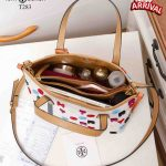 Tas Tote Bag WANITA,TAS Tory Burch Perry Fil Coupe Triple-Compartment Tote Open Top With Magnetic Clousure T283 Semi Ori Kode T283