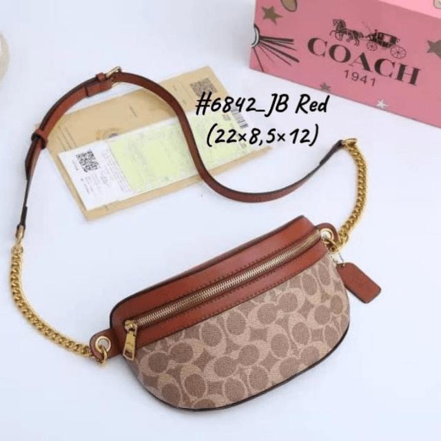 Tas Waist Bag WANITA,Tas Waist Bag Coach, Bethany Belt 6842 Semi Premium Kode COA618 33