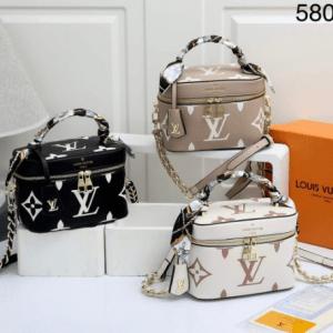 Tas louis vuitton selempang terbaru,tas lv selempang kecil terbaru,Tas Louis Vuitton Vanity Case 5808 Semi Premium Kode LVT101