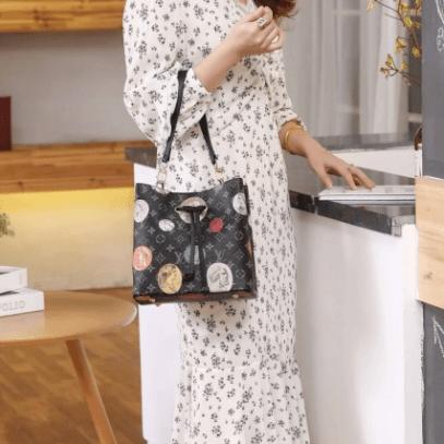 Tas selempang wanita lv terbaru,Tas Louis Vuitton Neo Noe Monogram Cameo R29057 Semi Premium Kode LV1577 7